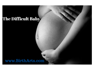The Difficult Baby - Birth Arts International